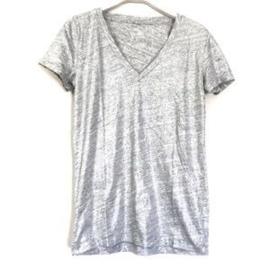 J.Crew Vintage Cotton Metalic Grey Tee- Large